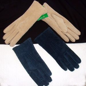 Vintage leather gloves lot-ladies womens suede
