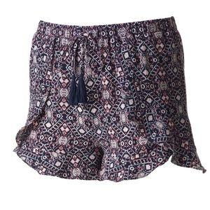 Joe B Floral Flutter Shorts Large NWOT