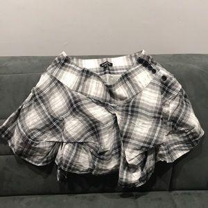 Bebe Plaid Mini Skirt