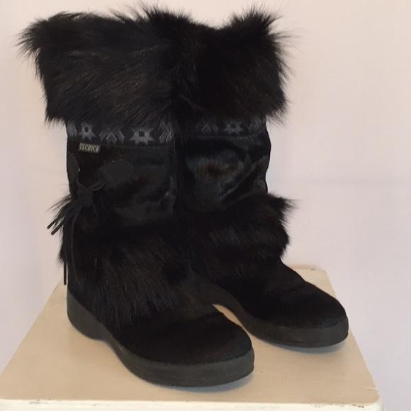 Tecnica Black Faux Fur Boots