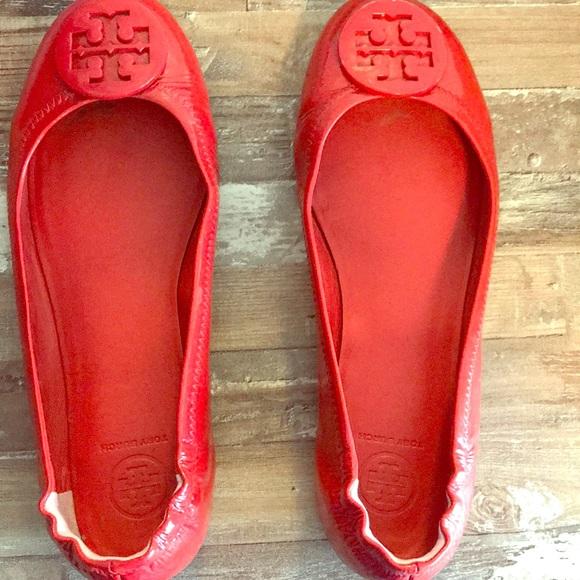 Tory Burch Shoes | Red Tory Burch Flats