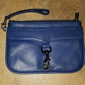Rebecca Minkoff blue leather clutch