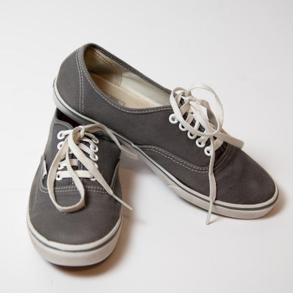 accbca1076 Vans Shoes - Vans Grey Off The Women 8.5 Grey Sneakers Men 7
