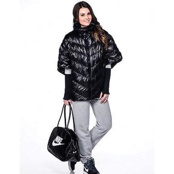f1471366b26b Nike Black Cascade Down Puffer Poncho