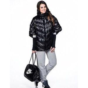 Nike Black Cascade Down Puffer Poncho