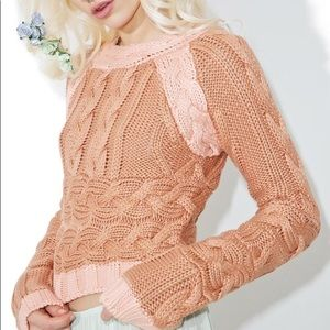 NWT Knitz by For Love and Lemons cropped sweater