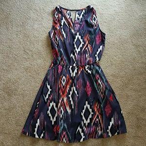 Collective Concepts purple v neck dress