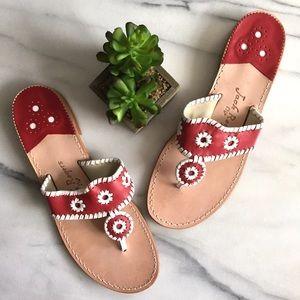 Jack Rogers Red Thong Flip Flop Sandal Size 12