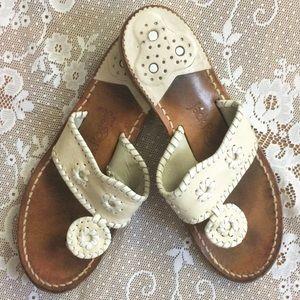 Jack Rogers / White Sandal Flip Flops