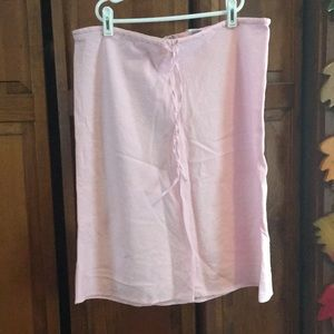Link pink woman's linen/cotton skirt
