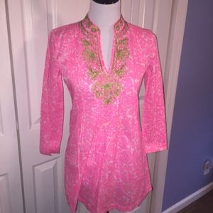 Lilly Pulitzer Sarasota Tunic Pink Party Favors