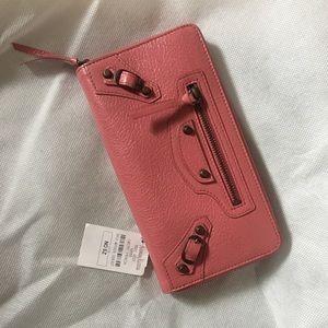 Balenciaga Classic Zip Continental Wallet, Pink