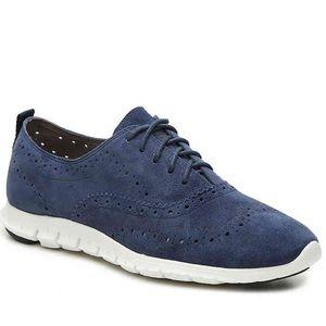 Cole Haan Navy Blue Zerogrand Sneakers