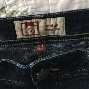 Denim - Lei Sofia hipster flare jeans size 13