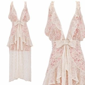 NWT For Love And Lemons Disposition Maxi Dress