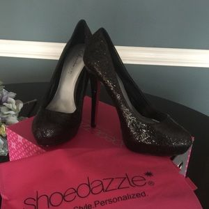 "ShoeDazzle NEW ""Temptress"" glitter heels size 9.5"