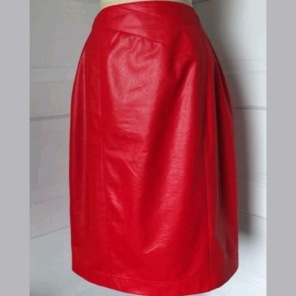 1f127f5b7f City Girl Dresses & Skirts - Vintage 80's Red Pencil Skirt City Girl ...