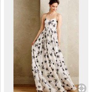 Floral-Print Organza Ball Gown