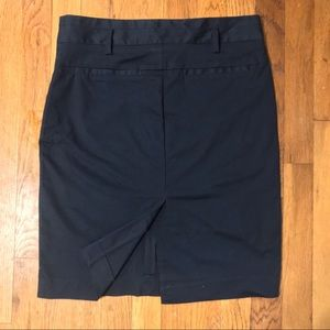 ZARA Navy Cotton Stretch Skirt