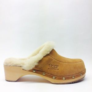 UGG Brass Studded Wool Lined Clogs NWOT size 8