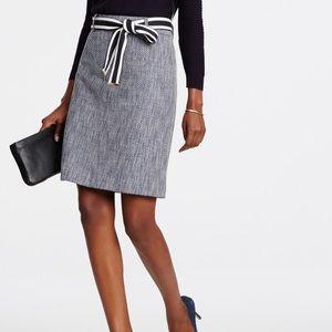 Ann Taylor Belted Tweed Skirt