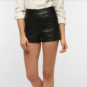 Urban Outfitter Sparkle & fade faux leather shorts