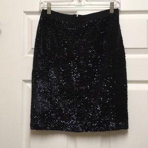 Sequin short skirt,size-2P,navy,