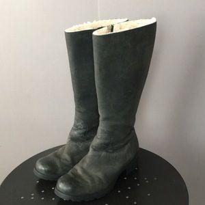 Ugg Australia Tall Black Zip-Up Boots