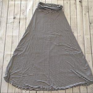 Gap stripped maxi skirt