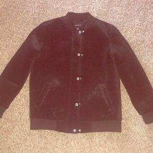 Members only black velvet jacket