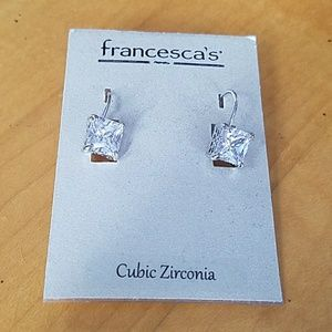 Drop square earrings