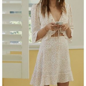 NWTS for love and lemons nostalgic tie front small