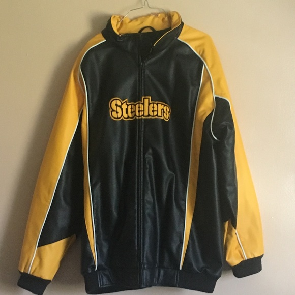 the best attitude be209 f9d7f Pittsburgh Steelers leather jacket!!
