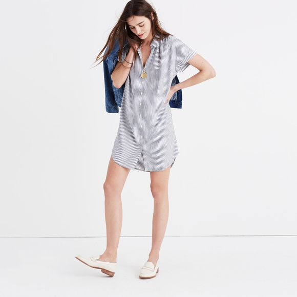 d86834a5a0c Madewell Dresses   Skirts - Madewell Central Shirt Dress in Stripe