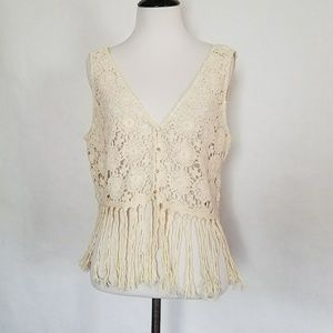Zara Fringe Crochet Top or Vest