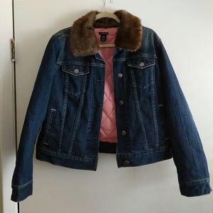 GAP • Jean Jacket W/Reversible Fur