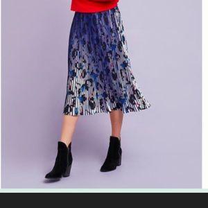 Anthropologie Laurene printed midi skirt