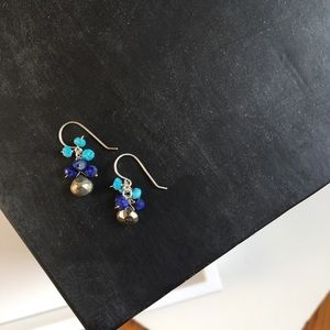 Jewelry - Turquoise, lapis, and pyrite earrings