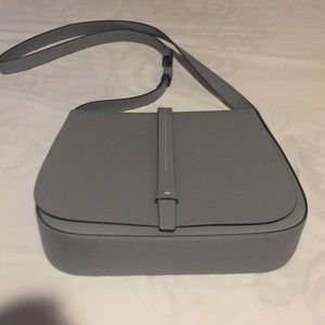 Clear OUT!  Brand New Grey Cross Body Saddle Bag