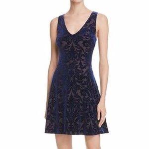 Aqua Velvet A-Line Dress Short XS NEW