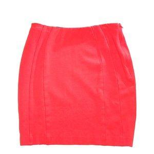 Ann Taylor Orange Mini Skirt