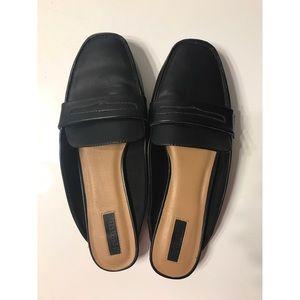 Designer-inspired Black Mule Loafer Slides Slip On
