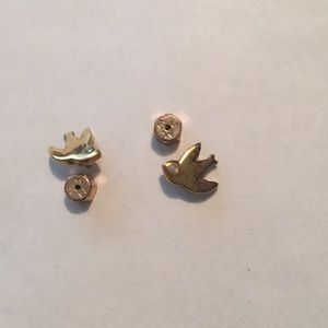 Marc by Marc jacobs gold earrings bird with stone