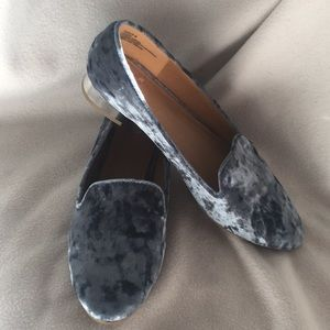 Report Crushed Velvet Loafers