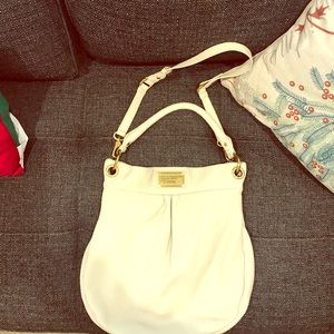 Marc by Marc Jacobs Cream Hobo Purse