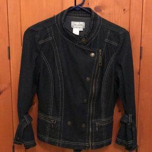 Super cute dark denim jacket PS