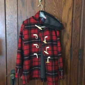 Gap tartan toggle peacoat - M -Never Worn