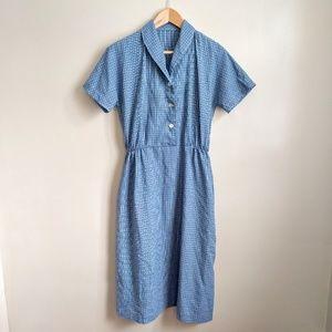 vintage 50s/60s handmade grid pattern house dress