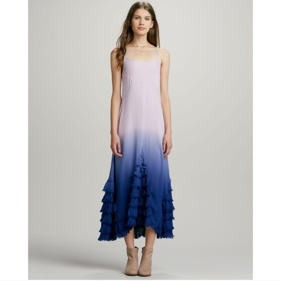 Free People Dresses & Skirts - Free people dip dye lavender maxi dress NWT