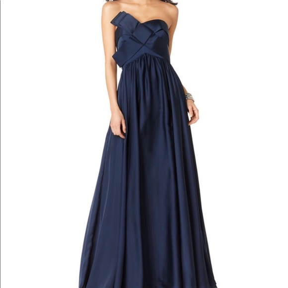 JS Collections Dresses | Gorgeous Js Collection Navy Formal Gown ...